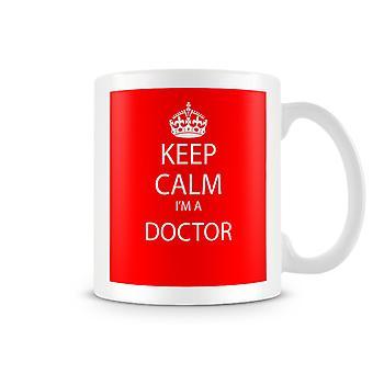 Keep Calm ik ben een bedrukte mok van arts