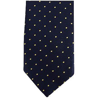 Knightsbridge Neckwear Kensington Spots Silk Tie - Navy/Yellow