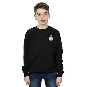 Disney Boys Mickey Mouse Don't Speak Breast Print Sweatshirt