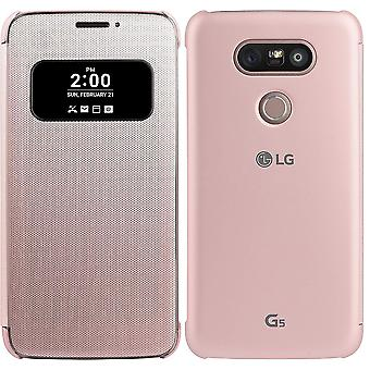 Officiella LG Mesh Folio täcker fallet för LG G5 - rosa (CFV-160. AGEUPK)