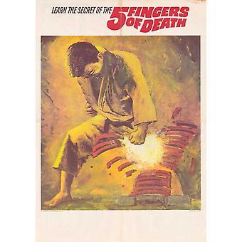 Cinco dedos de muerte Movie Poster (11 x 17)