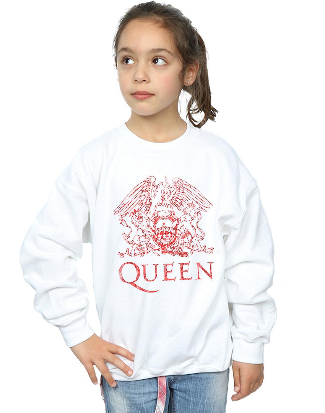 Meninas de rainha crista angustiado moletom