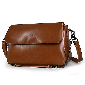 Shoulder handbag in genuine cow leather 33x22x11 cm