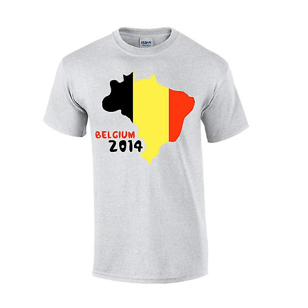 Belgia 2014 land flagg T-shirt (grå)