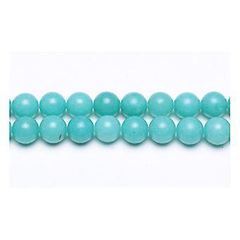 Tråd 38 + turkis malaysiske Jade 10mm vanlig runde perler GS9949-4