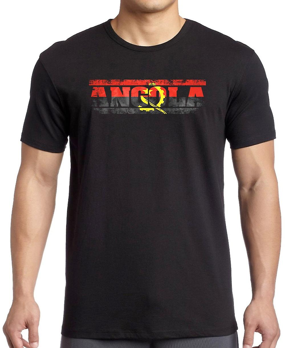 Angola Angolan Flag - Words Kids T Shirt