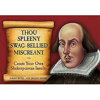 Thou Spleeny Swag-Bellied Miscreant: Creat Your Own Shakespearean Insults