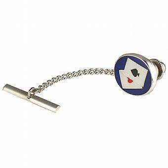 Silver 14x12mm Poker Tie Tack