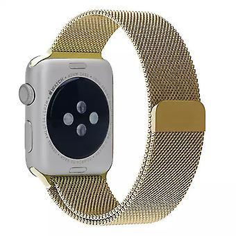 Apple Watch Stainless Steel Milanese Loop Armband - Guld