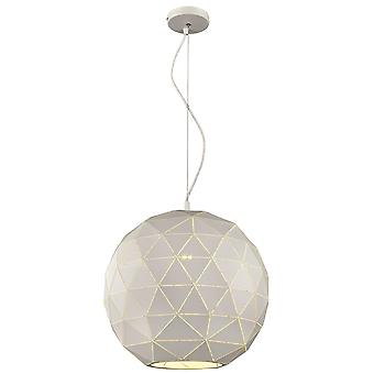 Spring Lighting - Derby Large Round White Pendant  QMBJ040XI1QFOE
