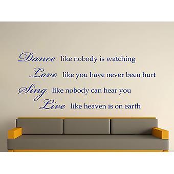 Tanz wie niemand beobachtet Kunst Wandaufkleber - Brillantblau