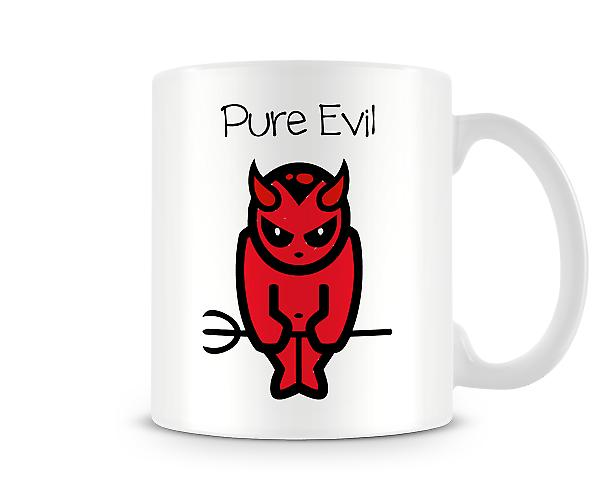 Decorative Writing Cartoon Devil Pure Evil Printed Text Mug