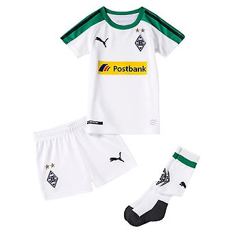 PUMA BMG Home Minikit with with Sponsor Logo with hanger Kinder Fußball-Shirt Weiss