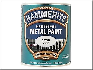 Hammerite Direct to Rust Satin Finish Metal Paint White 750ml