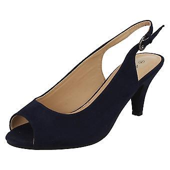 Dames Anne Michelle microvezel Wide passend Slingback sandalen F10593