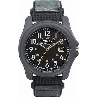 Watch Timex Mens Expedition faccia nera Nylon Strap T42571