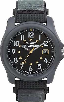 Timex Expedition visage noir bracelet en nylon T42571 Montre