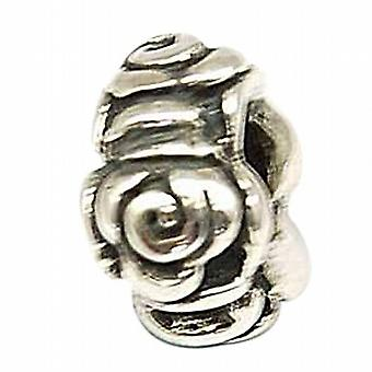 TOC BEADZ 925 Silver Roses 6mm Slide-On Off Bead