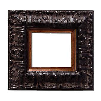 2 stycken, 7,5x7,5 cm eller 3x3 tum, fotoram i svart