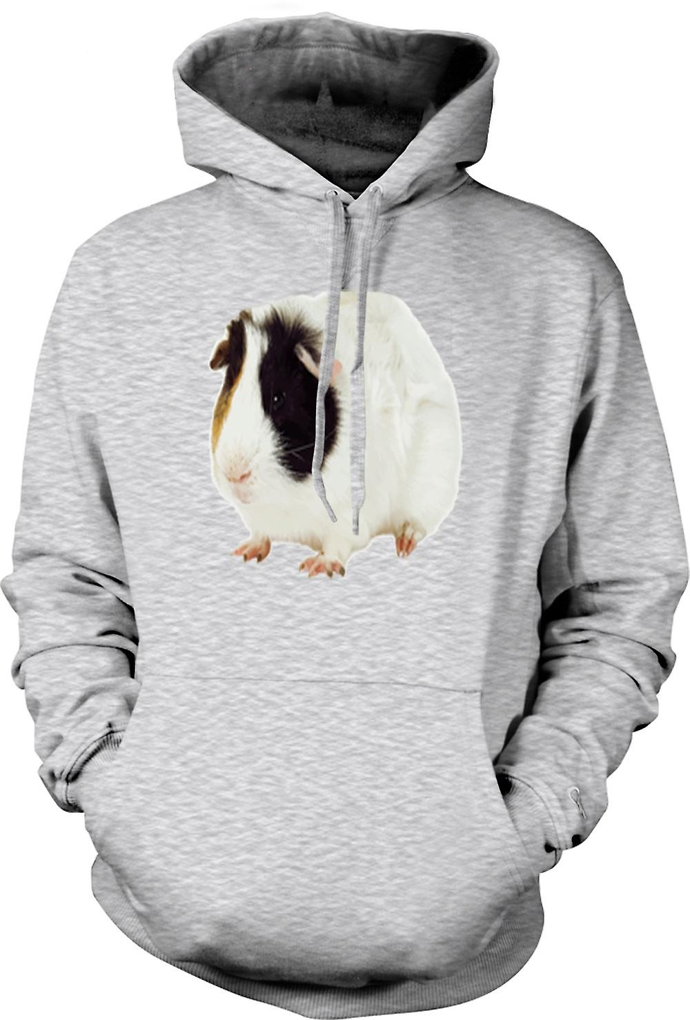 Mens Hoodie - Guinea Pig White and Brown Women