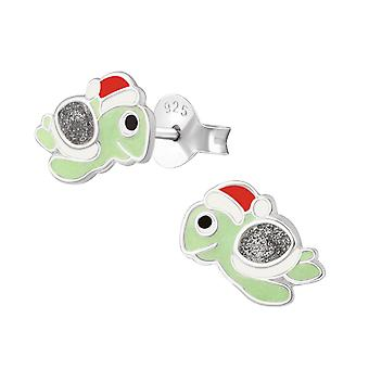 Turtle - 925 Sterling Silver Colourful Ear Studs - W38266X