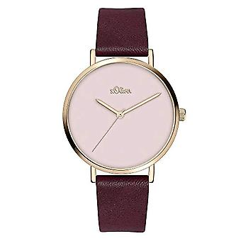 s.Oliver Quartz Women's Analog Clock with SO-3911-LQ Leather Belt