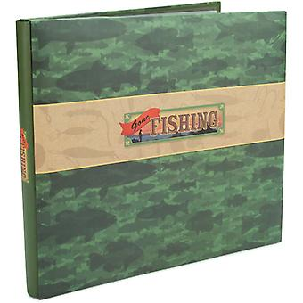 Gone Fishing Postbound Scrapbook Album 12