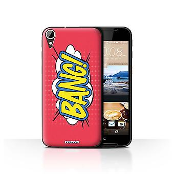 STUFF4 Case/Cover for HTC Desire 830/Bang!/Comics/Cartoon Words