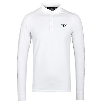 Creative Recreation Tone Long Sleeve White Polo Shirt