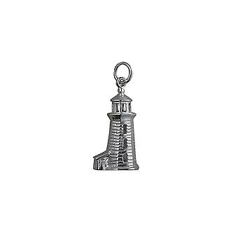 Silver 22x13mm Lighthouse Pendant or Charm