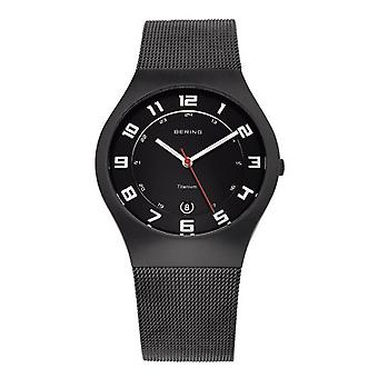Bering mens watch wristwatch slim classic - 11937-222 Meshband