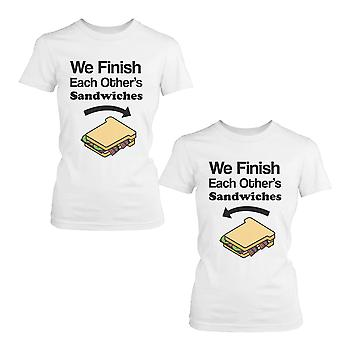 We Finish Each Other's Sandwich BFF Shirts Cute Matching Best Friends T-shirts