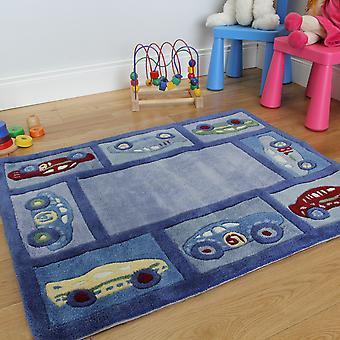 Kid's Blue Racing Car Play Mat
