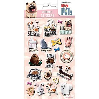The Secret Life of Pets 3D Bubble Stickers Fun Childrens Party Bag Filler