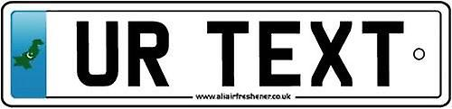 Personalised Pakistan Numberplate Car Air Freshener
