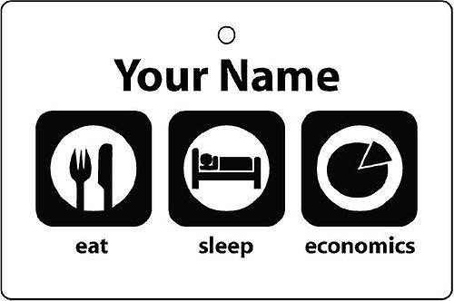 Personalised Eat Sleep Economics Car Air Freshener