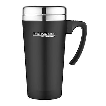 Genuine Thermos ThermoCafe Zest Black Hot and Cold Stainless Steel Travel Mug 420ml