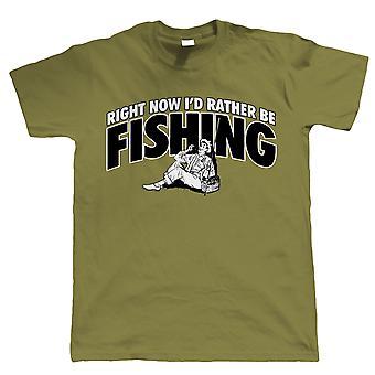 Op dit moment zou ik liever vissen, Mens grappig T Shirt | Grof Carp zee Match vliegen Specimen pakken vissers Hengelsport visser kleding | Cool verjaardag de Gift van Kerstmis presenteren hem vader man zoon opa