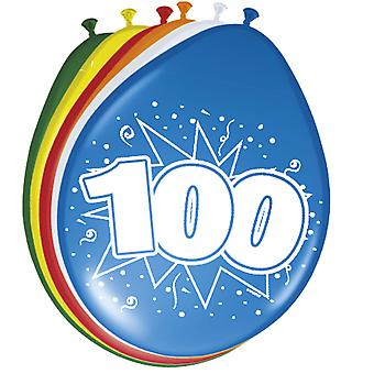 Colorful balloons balloon number 100 birthday 8 St. decoration balloons party