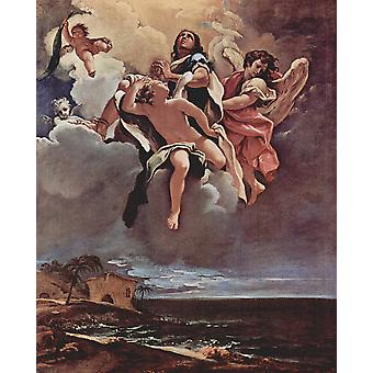 Sebastiano Ricci - In die Wolken Poster Print Giclee