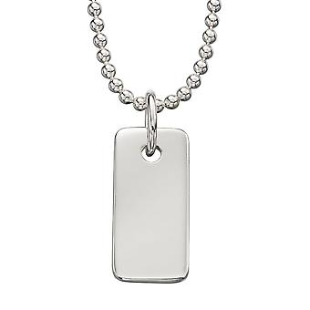 925 Silver Fashionable Identity Plate Necklace