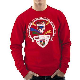 Voltron Force Arus Air Show Elite Lion Pilot Men's Sweatshirt
