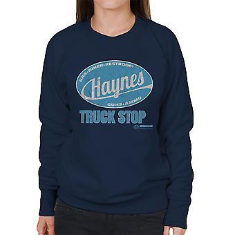 Haynes Marke Truck Stop Damen Sweatshirt