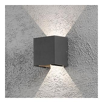 Konstsmide Cermona Grey Square Wall Washer Porch Light