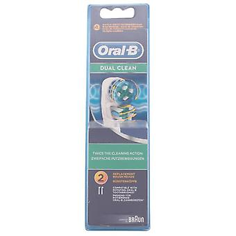 Oral B Heads Dual Clean 2 Pieces (Damen , Ästhetik , Zahn Schönheit)