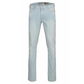 Wrangler mens jeans Blau slim tapered stretch Lars sound
