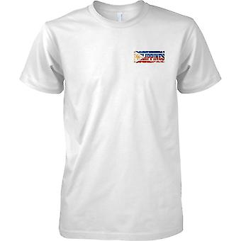 Phillipines Grunge Country Name Flag Effect - Kids Chest Design T-Shirt