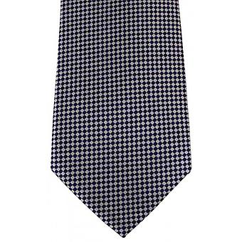 David Van Hagen Checked Tie - White/Blue