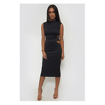 The Fashion Bible Tempest Bodycon Skirt & Boxy Top In Black