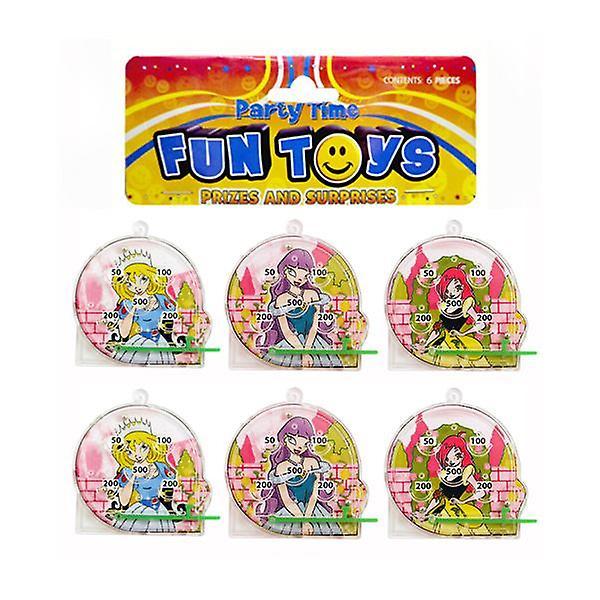 Bag of 6 Mini Princess Pinball Puzzles
